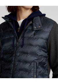 Ralph Lauren - RALPH LAUREN - Kurtka z pikowaniem Glen Hybrid. Typ kołnierza: polo. Kolor: szary. Materiał: dzianina