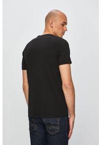 Czarny t-shirt Levi's® z nadrukiem, na spotkanie biznesowe, biznesowy, z okrągłym kołnierzem