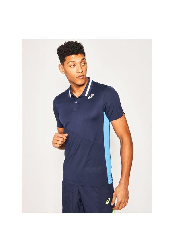 Niebieska koszulka sportowa Asics polo
