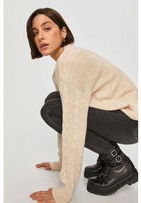 Beżowy sweter Answear Lab melanż, wakacyjny