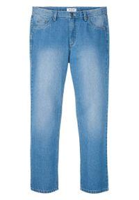 "Dżinsy Regular Fit Straight, bawełna organiczna bonprix niebieski ""bleached"". Kolor: niebieski"