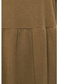 Zielona sukienka Jacqueline de Yong z kapturem, prosta, z długim rękawem, mini