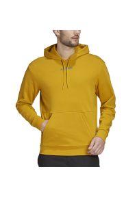 Żółta bluza Adidas z kapturem, klasyczna