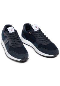 TOMMY HILFIGER - Tommy Hilfiger Sneakersy Modern Corporate Mx Runner FM0FM03423 Granatowy. Kolor: niebieski