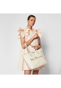 Biała torebka klasyczna Blumarine skórzana, klasyczna