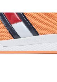 Pomarańczowe buty sportowe Tommy Jeans