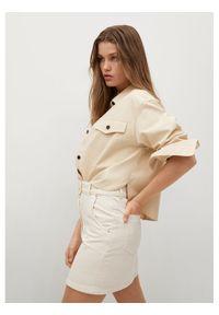 Beżowa spódnica jeansowa mango