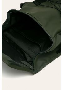 Zielony plecak Rains w paski