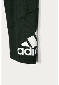 Czarne spodnie dresowe Adidas casualowe, na co dzień, z nadrukiem