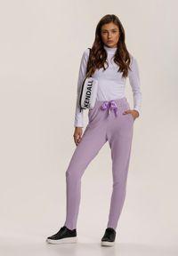 Fioletowe spodnie dresowe Renee