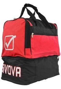 Givova Torba Medium Czerwono-czarna. Kolor: wielokolorowy, czerwony, czarny