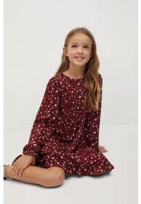 Brązowa sukienka Mango Kids z długim rękawem, mini #6