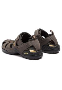 Brązowe sandały trekkingowe Teva na lato