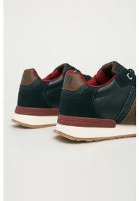 Niebieskie sneakersy Jack & Jones na sznurówki, z cholewką