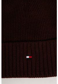 Fioletowa czapka TOMMY HILFIGER