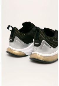 Czarne buty sportowe Puma na sznurówki, z okrągłym noskiem, na obcasie