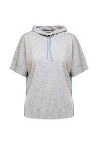 Deha - Sweter DEHA HARMONIC. Materiał: dzianina. Długość rękawa: krótki rękaw. Długość: krótkie