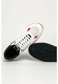 Białe sneakersy Hugo na sznurówki, z cholewką