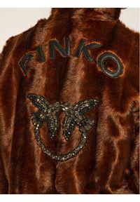 Brązowe futro Pinko