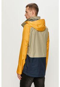 Żółta kurtka columbia z kapturem, na co dzień, casualowa