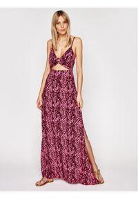 Fioletowa sukienka letnia