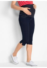 Czarne jeansy bonprix moda ciążowa, na lato, klasyczne