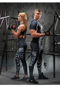 Koszulka sportowa FJ! z nadrukiem, na fitness i siłownię, z krótkim rękawem
