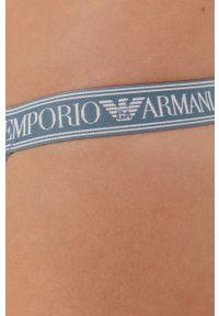 Emporio Armani Underwear - Stringi. Kolor: różowy. Materiał: dzianina, materiał. Wzór: gładki