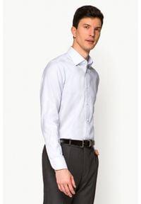 Lancerto - Koszula Jasnoszara Josephine. Kolor: szary. Materiał: wełna, jeans, tkanina, bawełna. Wzór: ze splotem