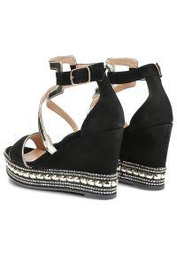 Czarne sandały Libero