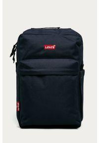 Niebieski plecak Levi's® biznesowy, w kolorowe wzory