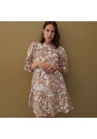 Reserved - Sukienka z bawełny organicznej - Wielobarwny. Materiał: bawełna