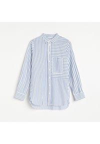 Reserved - Koszula z bawełny organicznej - Granatowy. Kolor: niebieski. Materiał: bawełna