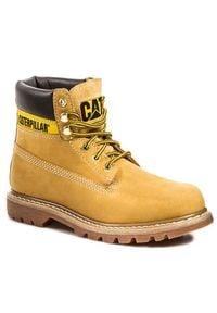 CATerpillar - Trapery CATERPILLAR - P306831 Żółty. Kolor: żółty. Materiał: skóra, nubuk