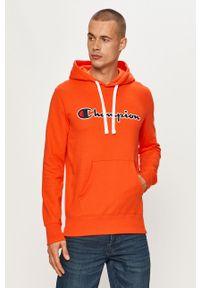 Champion - Bluza. Okazja: na co dzień. Kolor: pomarańczowy. Wzór: aplikacja. Styl: casual
