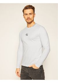 Biała koszulka z długim rękawem Calvin Klein Jeans