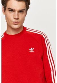 Czerwona bluza nierozpinana adidas Originals bez kaptura, na co dzień, casualowa