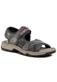 Szare sandały Rieker klasyczne, na lato