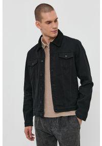 !SOLID - Kurtka jeansowa. Okazja: na co dzień. Kolor: czarny. Materiał: jeans. Wzór: gładki. Styl: casual