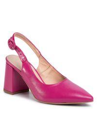 Różowe sandały Baldaccini na co dzień, casualowe, na średnim obcasie, na obcasie