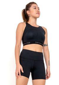 Dorina - Biustonosz sportowy Enhance. Kolor: czarny. Rodzaj stanika: odpinane ramiączka