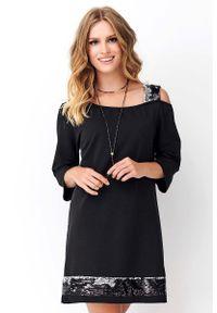 Czarna sukienka Makadamia