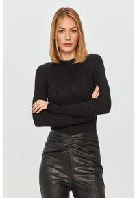 Czarny sweter Guess Jeans długi, z długim rękawem