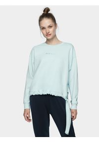 Niebieska bluza nierozpinana 4f na co dzień, krótka, casualowa