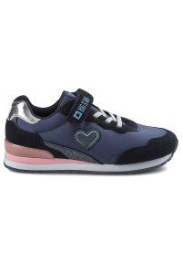Big-Star - Sneakersy BIG STAR HH374110 Granat. Zapięcie: rzepy. Materiał: skóra ekologiczna, materiał. Szerokość cholewki: normalna. Wzór: aplikacja. Sport: turystyka piesza