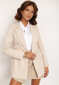 Renee - Jasnobeżowa Marynarka Cileia. Kolor: beżowy. Styl: glamour, klasyczny #3
