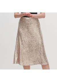 Złota spódnica Reserved