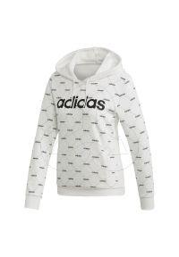 Bluza z kapturem Adidas z długim rękawem, długa, z nadrukiem, na co dzień