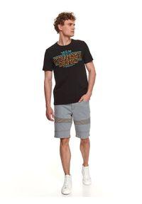 TOP SECRET - T-shirt z nadrukiem. Kolor: czarny. Materiał: bawełna, tkanina. Długość rękawa: krótki rękaw. Długość: krótkie. Wzór: nadruk. Sezon: lato. Styl: wakacyjny, klasyczny