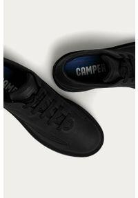 Czarne sneakersy Camper z cholewką, z okrągłym noskiem, na sznurówki